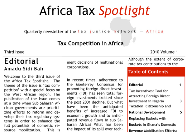 Africa Tax Justice Spotlight 2010
