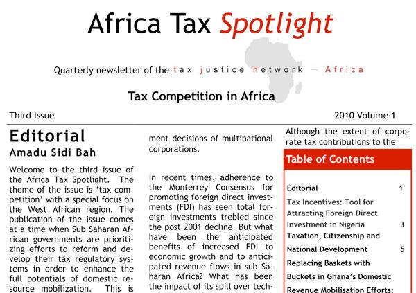 Africa Tax Justice Spotlight 2010